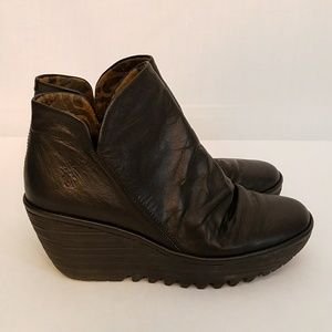 FLY London Yip Wedge Ankle Boot, Size 38